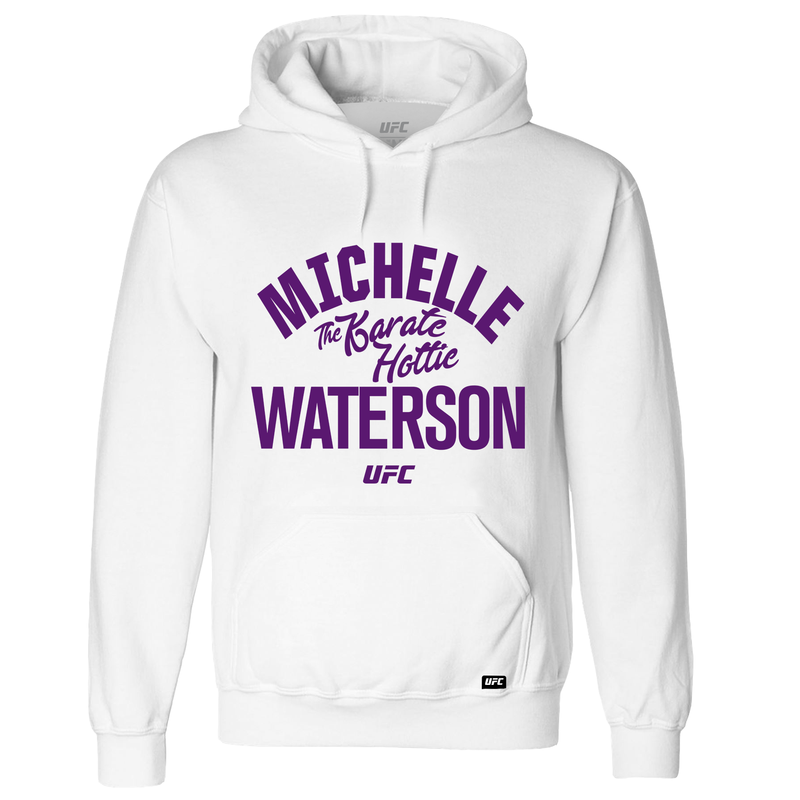 "UFC Michelle ""The Karate Hottie"" Waterson Old School Hoodie – White"