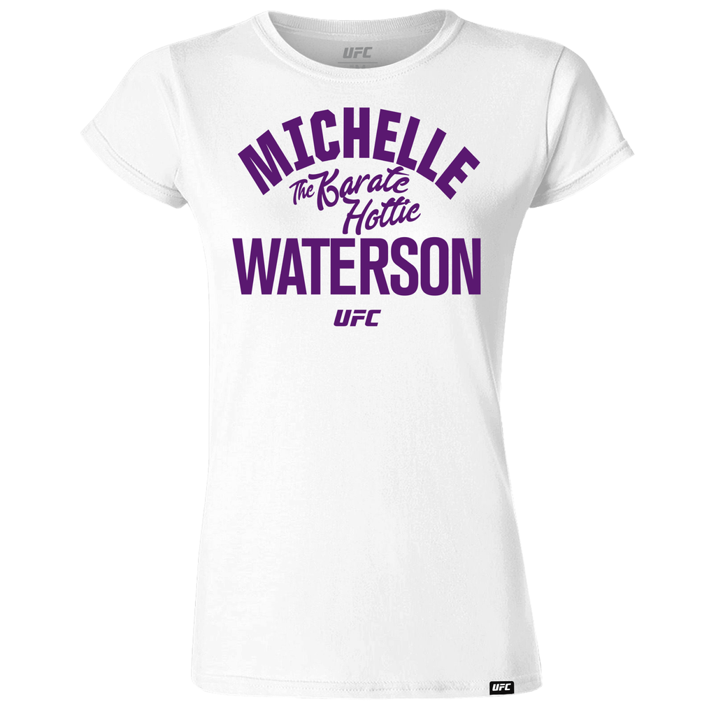 "UFC 229 Michelle ""The Karate Hottie"" Waterson Women's Old School T-Shirt – White"