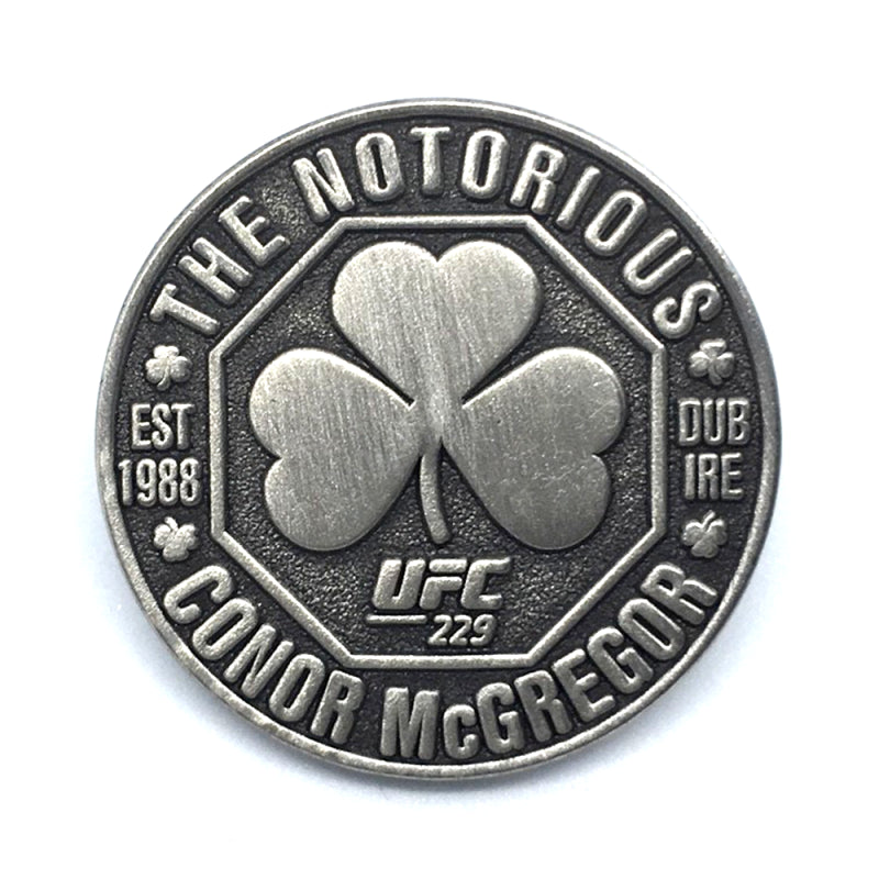 "UFC 229 Commemorative Conor ""The Notorious"" McGregor Pewter Pin Badge"