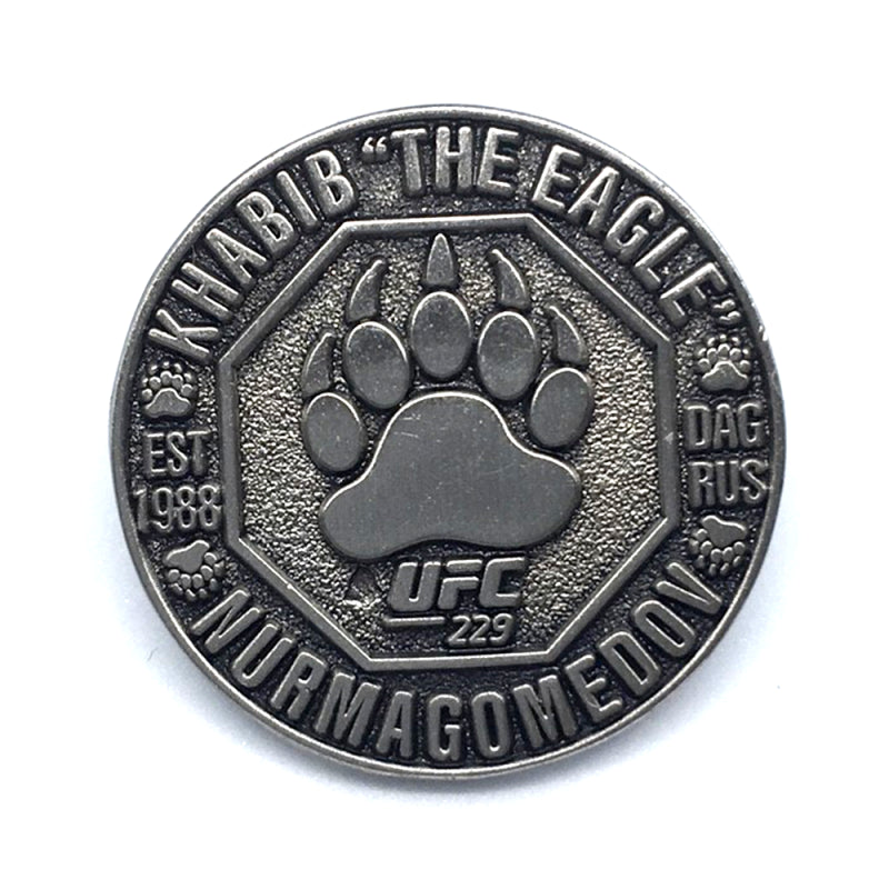 "UFC 229 Commemorative Khabib ""The Eagle"" Nurmagomedov Pewter Pin Badge"