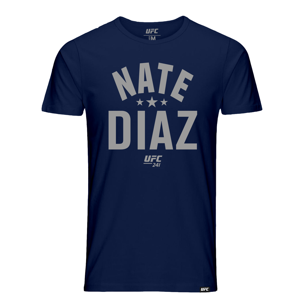 UFC 241 Nate Diaz Old School T-Shirt- Navy