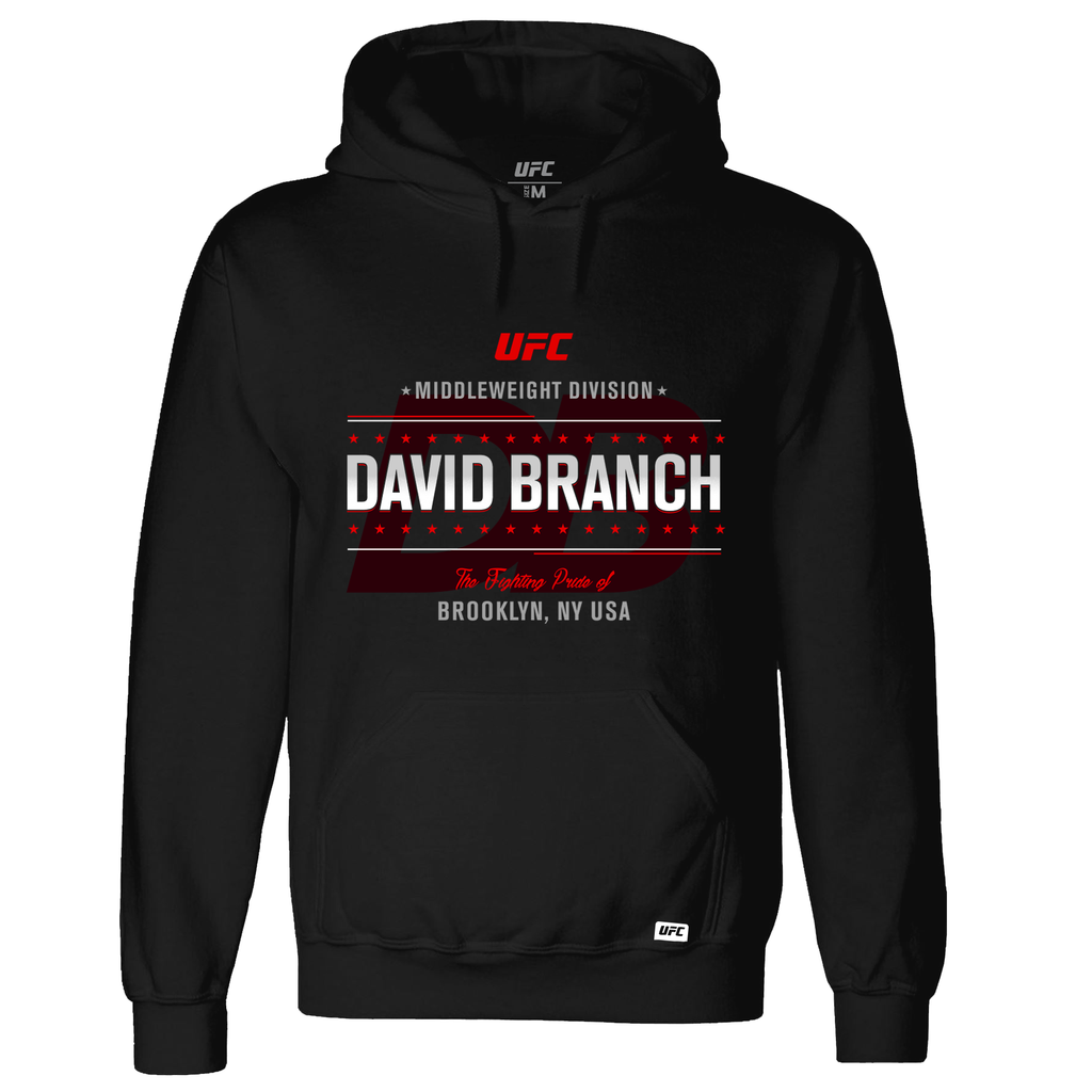 David Branch Fighting out of  Hoodie- Black