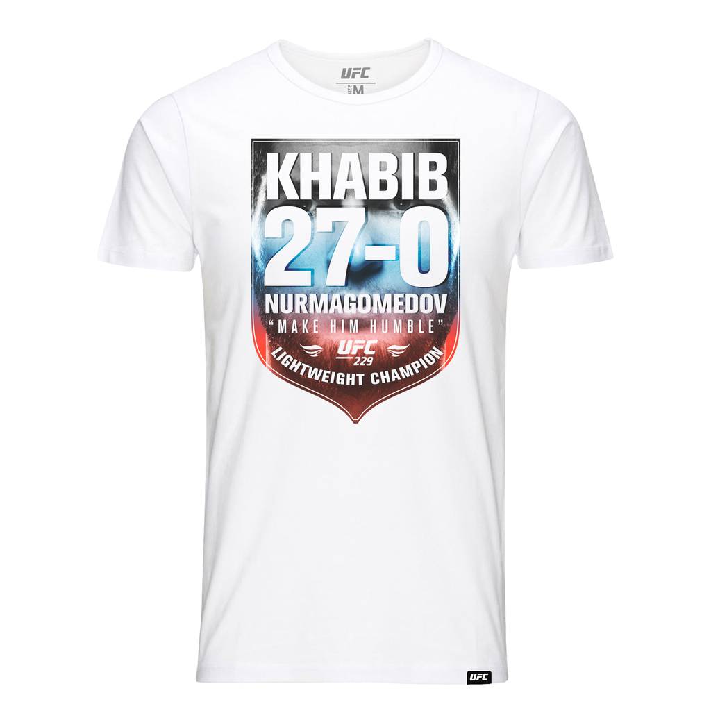"UFC 229 Khabib ""The Eagle"" Nurmagomedov Undefeated 27-0 Champion T-Shirt-White"
