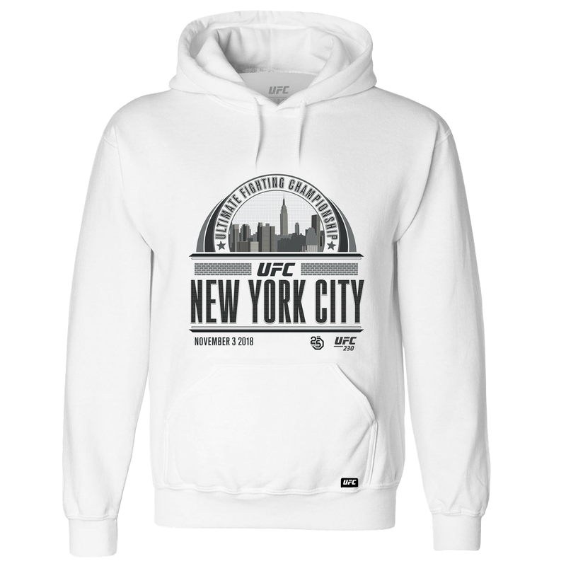 UFC New York Graphic Skyline Hoodie - White