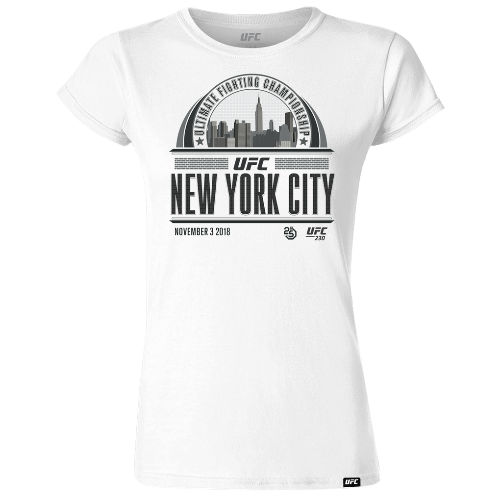 UFC 230 New York Graphic Skyline Women's T-Shirt - White