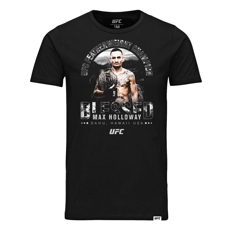 "UFC Max ""Blessed"" Holloway Icon Graphic Kid's T-Shirt - Black"