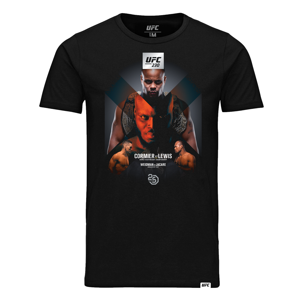 UFC 230 Cormier vs Lewis Event T-Shirt - Black