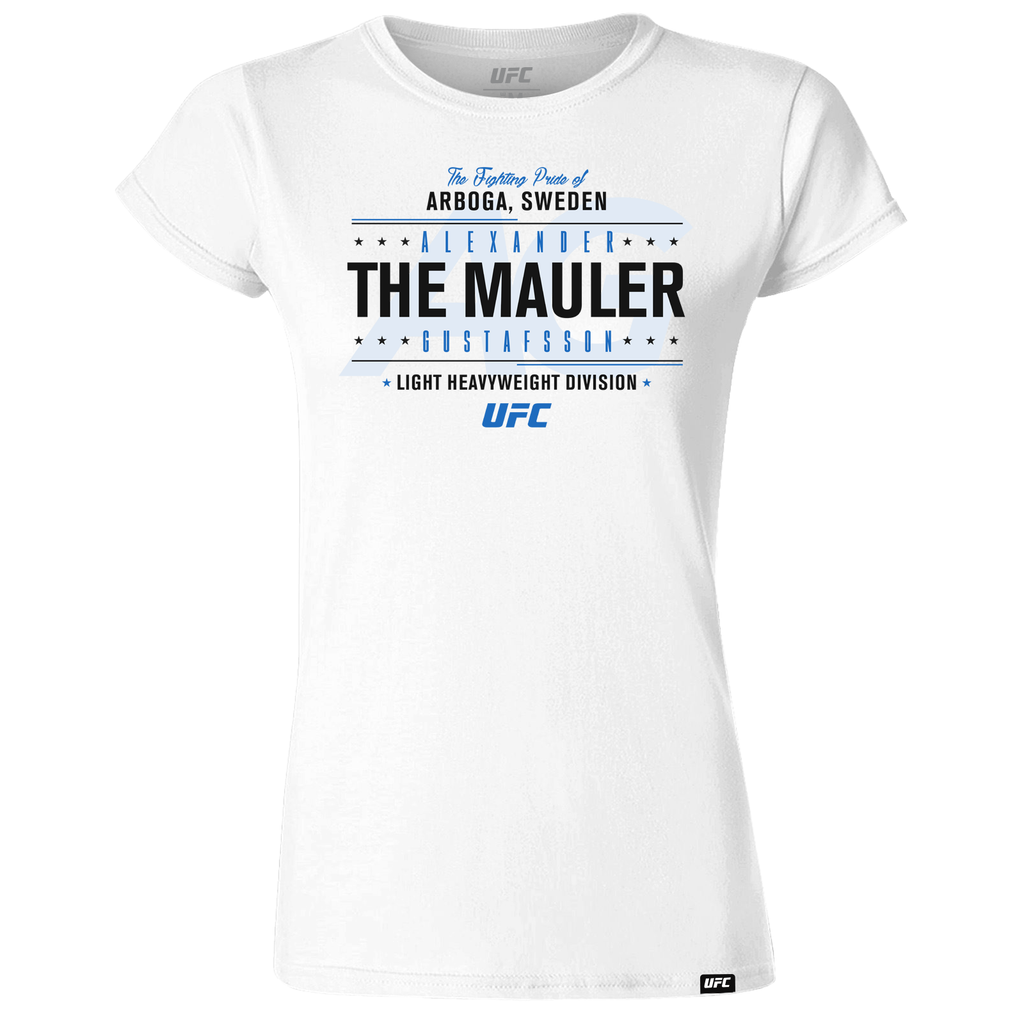 "Alexander ""The Mauler"" Gustafsson Fighting Pride Women's T-Shirt- White"