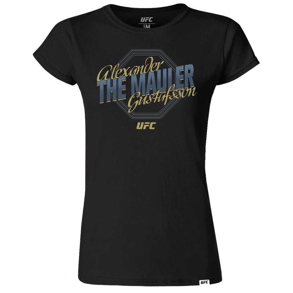 "Alexander ""The Mauler"" Gustafsson Octagon Women's T-Shirt- Black"
