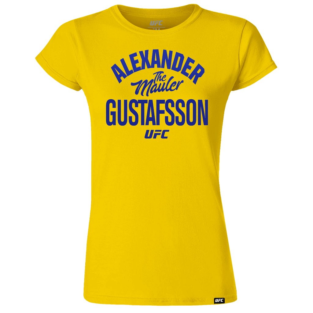 "Alexander ""The Mauler"" Gustafsson Old School Women's T-Shirt- Yellow"