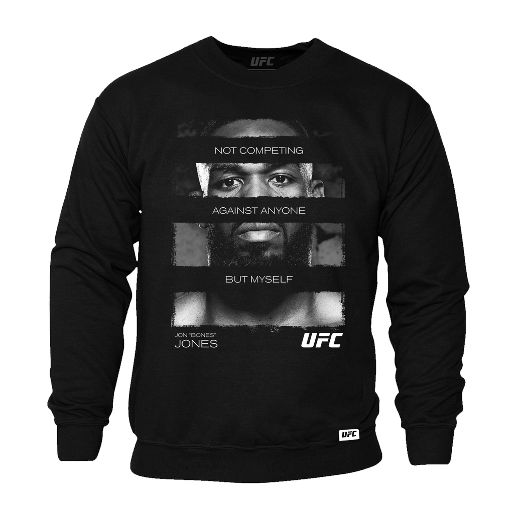 "Men's UFC Jon ""Bones"" Jones Quote Sweatshirt- Black"