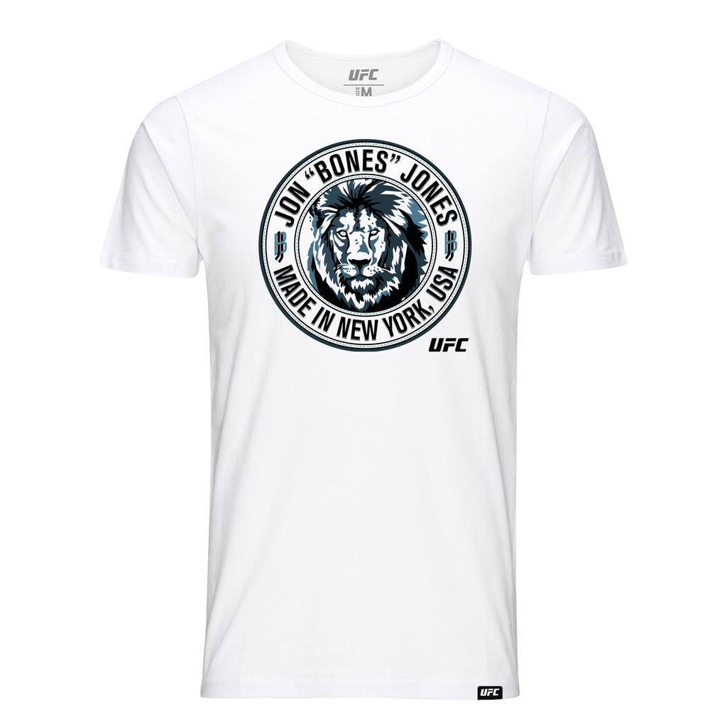 "Men's UFC Jon ""Bones"" Jones Made in New York T-Shirt- White"