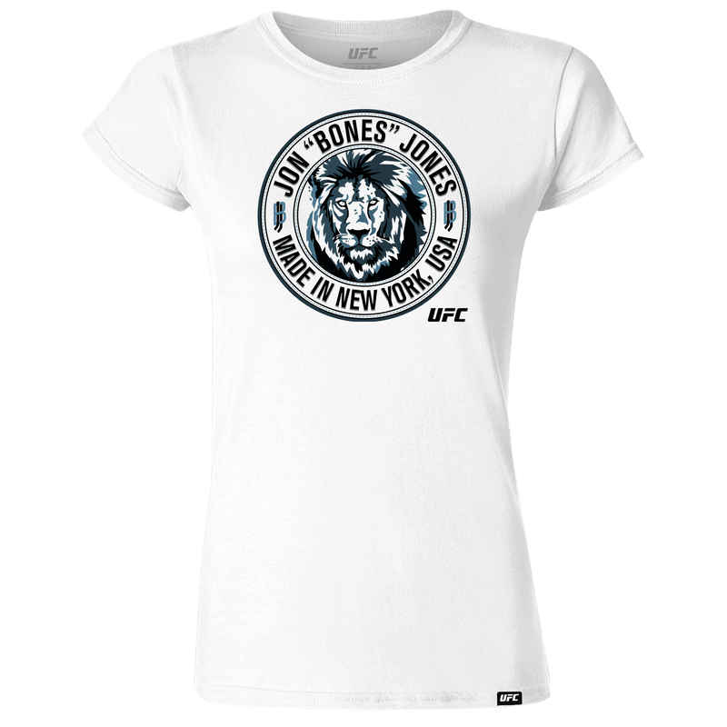 "Jon ""Bones"" Jones Made in New York Women's T-Shirt- White"