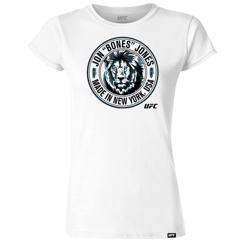 "Jon ""Bones"" Jones Shield Women's T-Shirt- Charcoal"