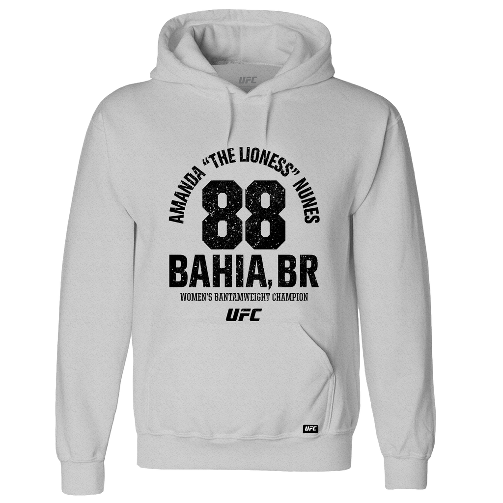 "Amanda ""The Lioness"" Nunes Bahia, BR Established 88 Hoodie- Grey"