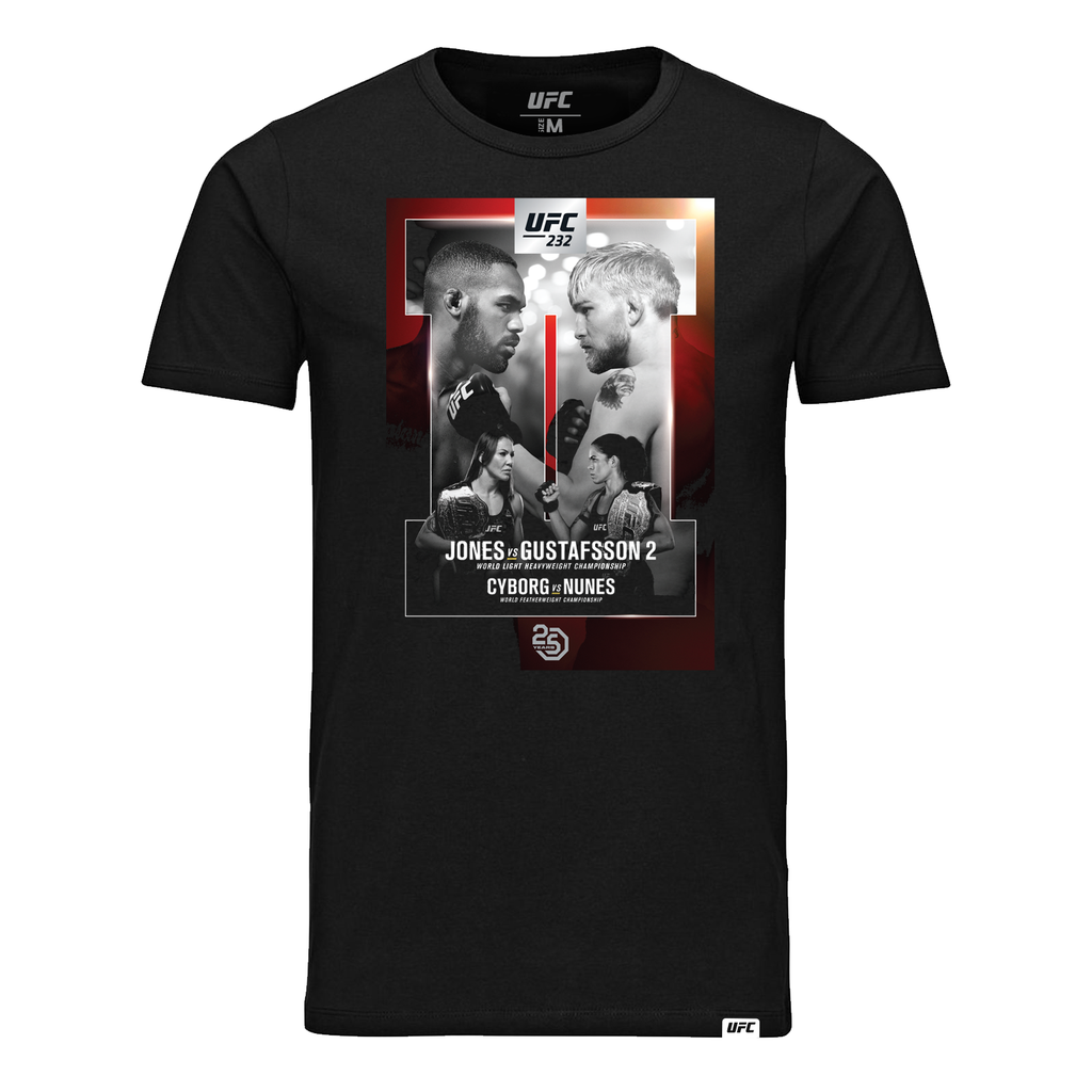 UFC 232 Jones vs Gustafsson Event T-Shirt-Black
