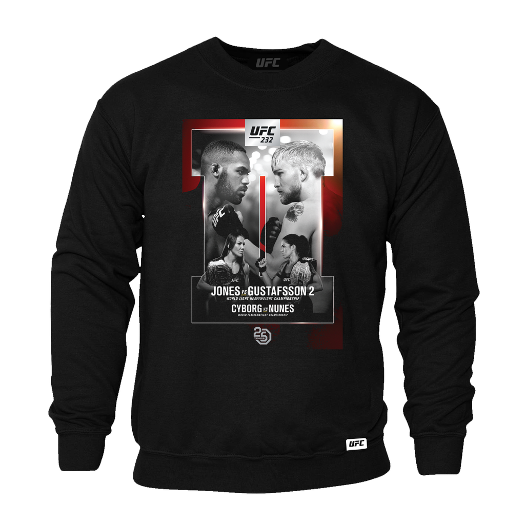 UFC 232 Jones vs Gustafsson Event Sweatshirt-Black