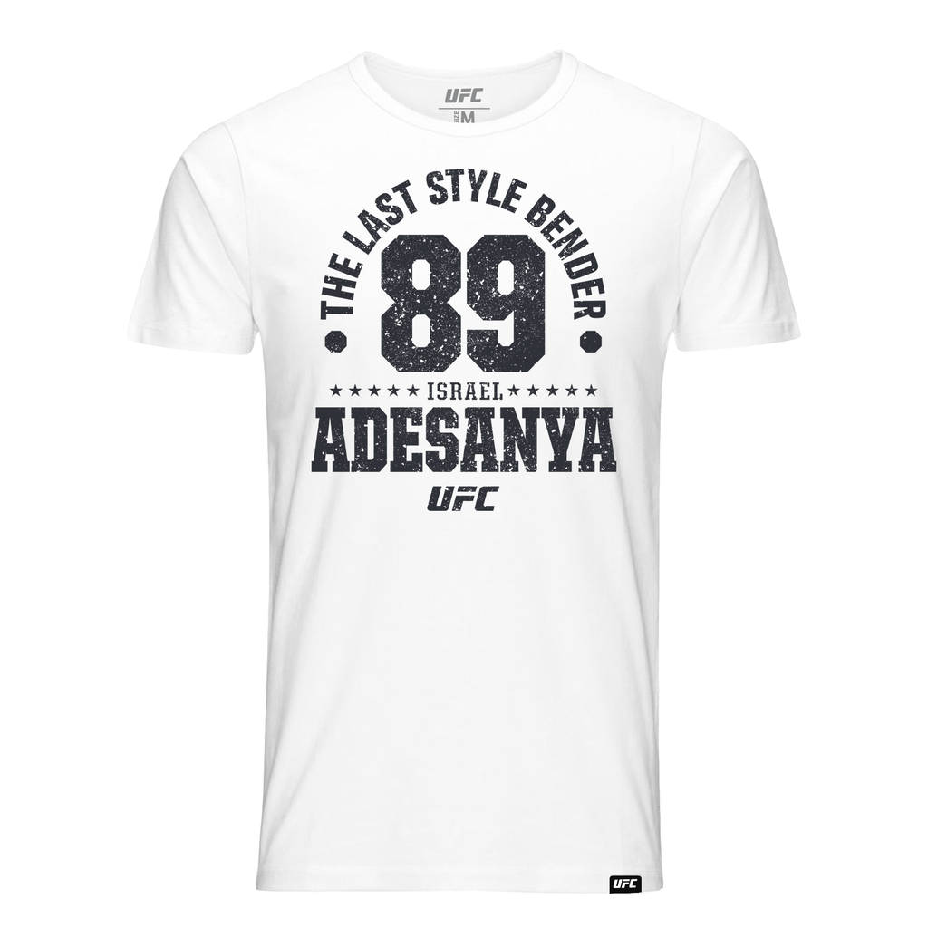 "Men's Israel ""The Last Style Bender"" Adesanya Established 89 UFC T-Shirt- White"