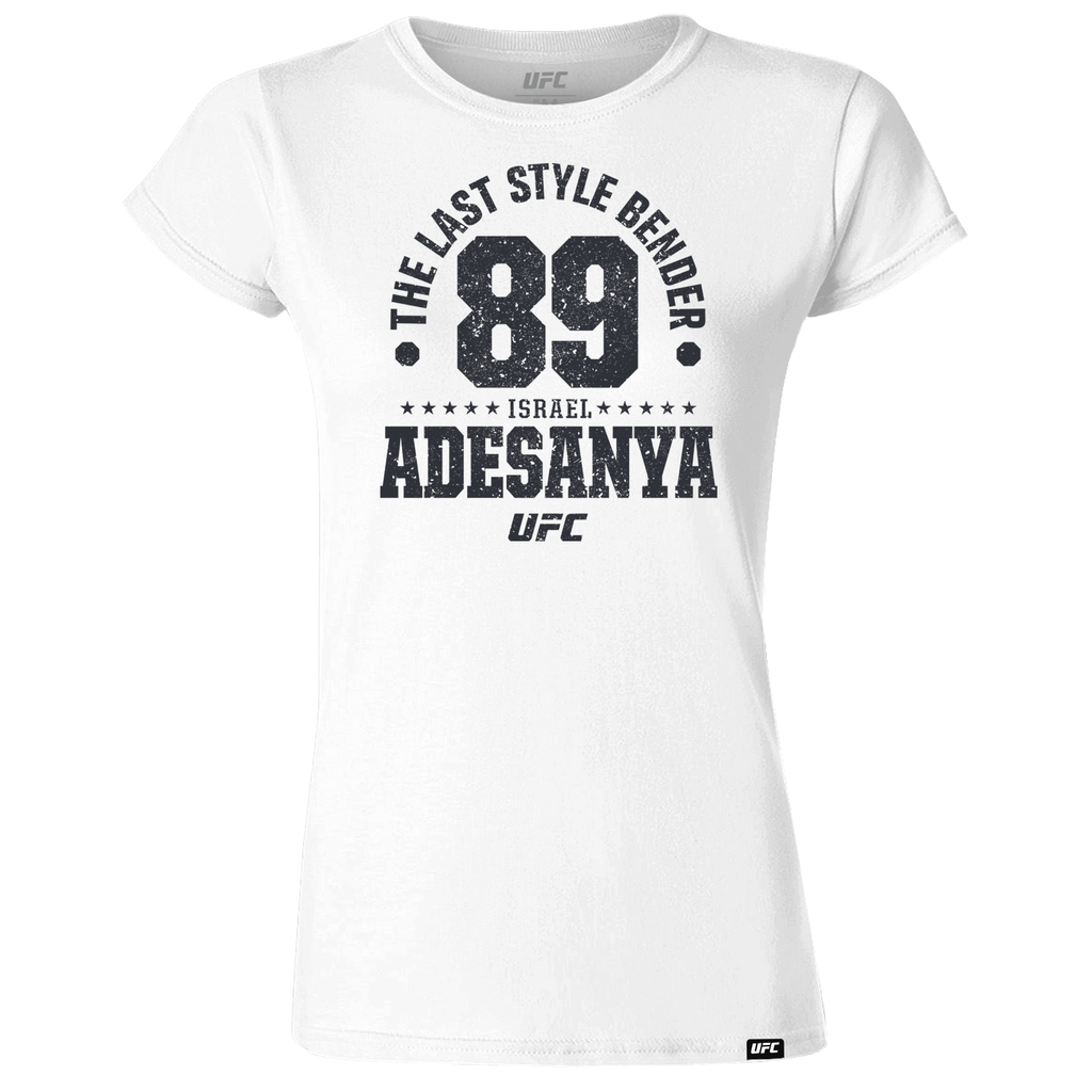 "Women's Israel ""The Last Style Bender"" Adesanya Established 89 UFC T-Shirt- White"