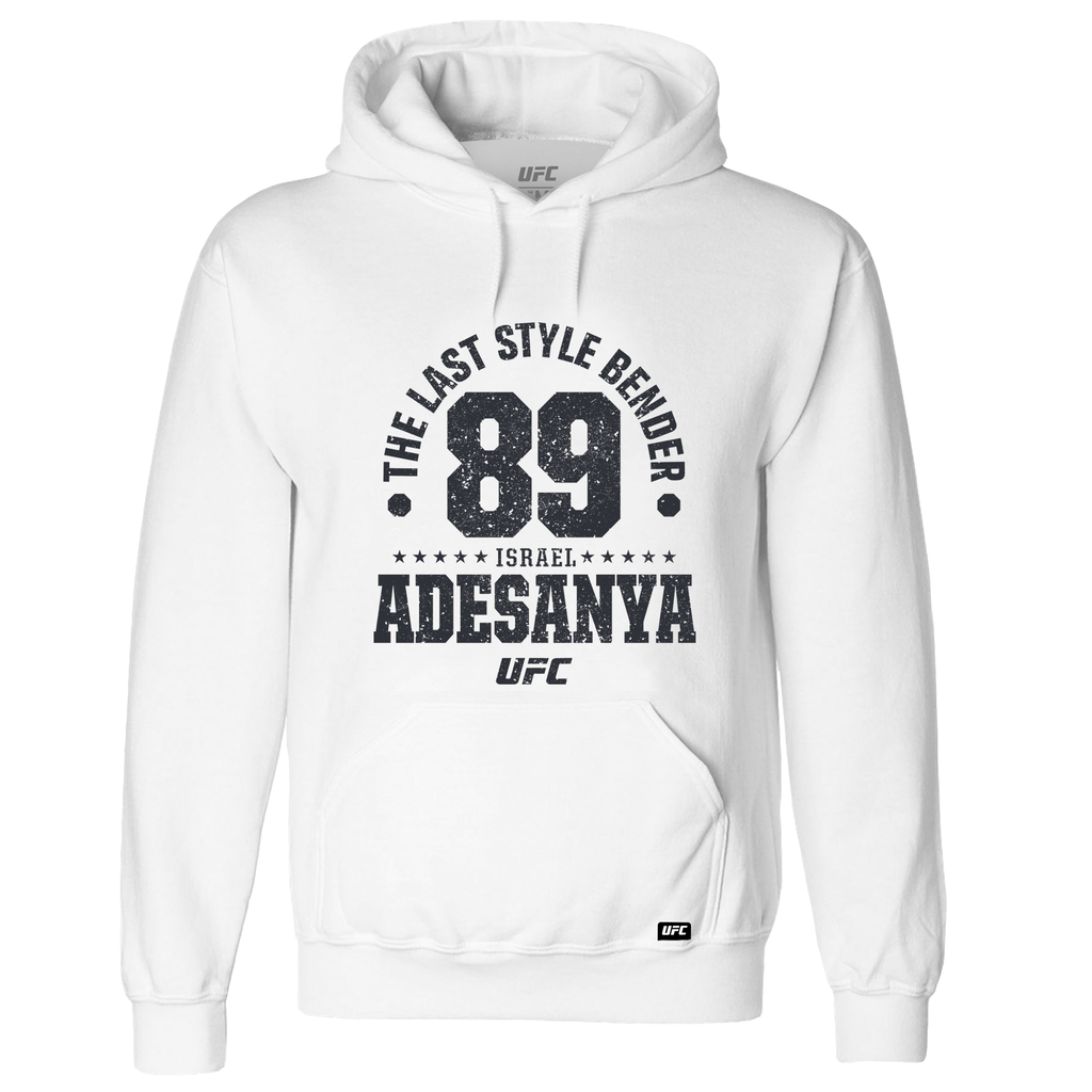 "Men's Israel ""The Last Style Bender"" Adesanya Established 89 UFC Hoodie- White"