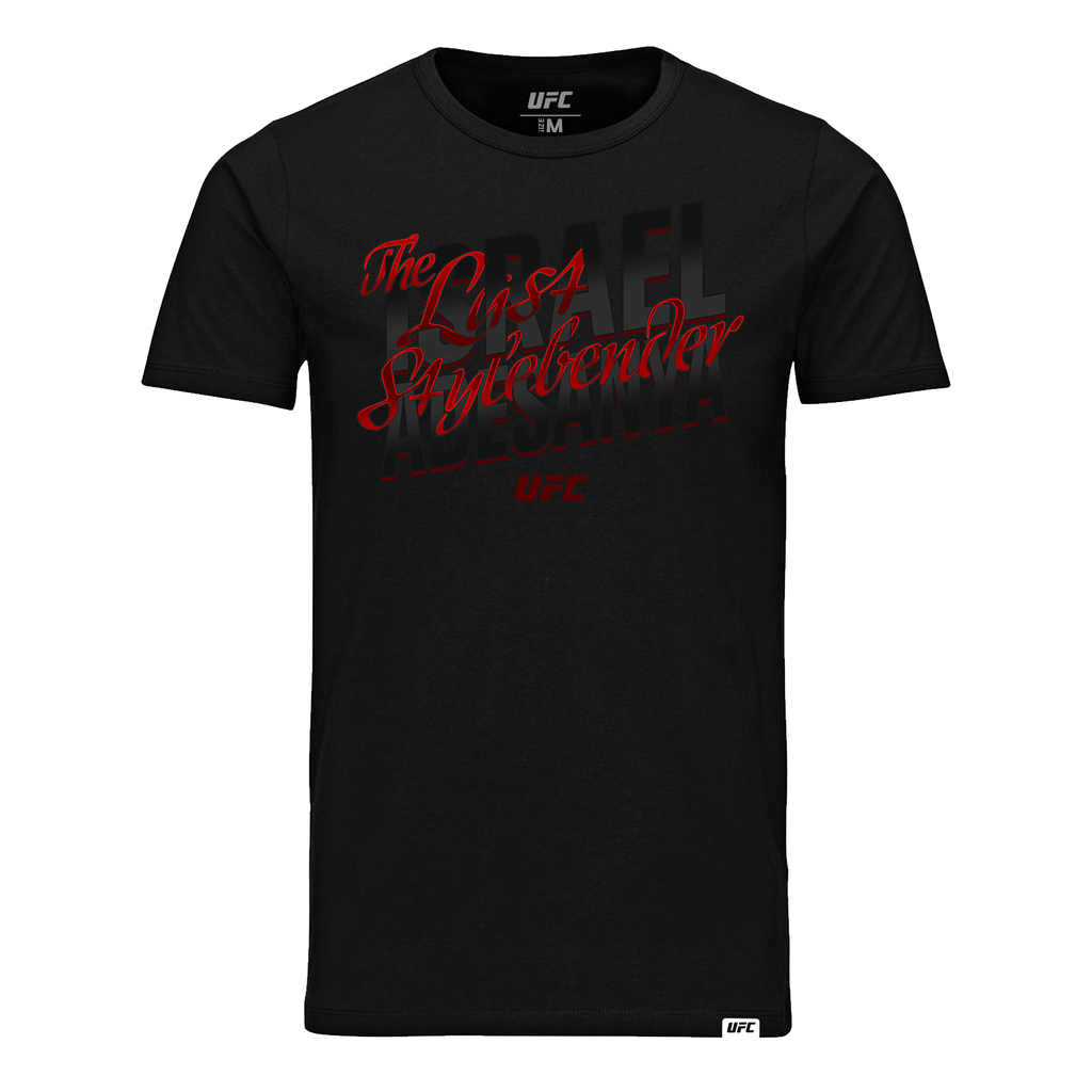 "Men's Israel ""The Last Style Bender"" Adesanya Script UFC T-Shirt- Black"