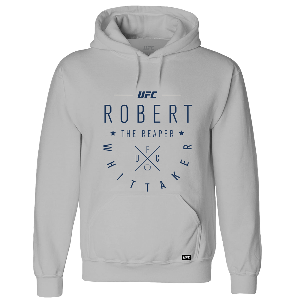 "Men's Robert ""The Reaper"" Whittaker Script UFC Hoodie- Grey"