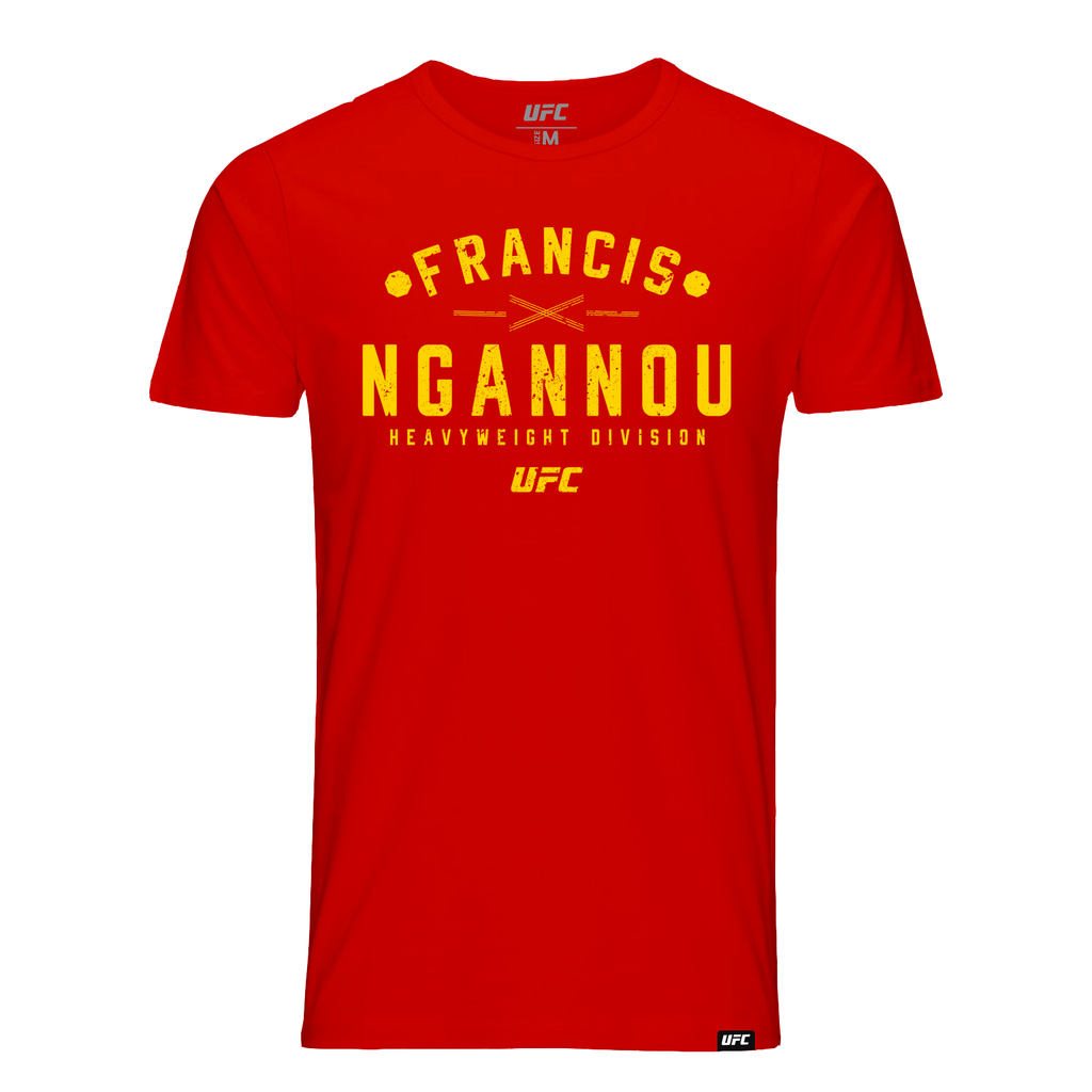 Kid's Francis Ngannou Graphic T-Shirt -Red