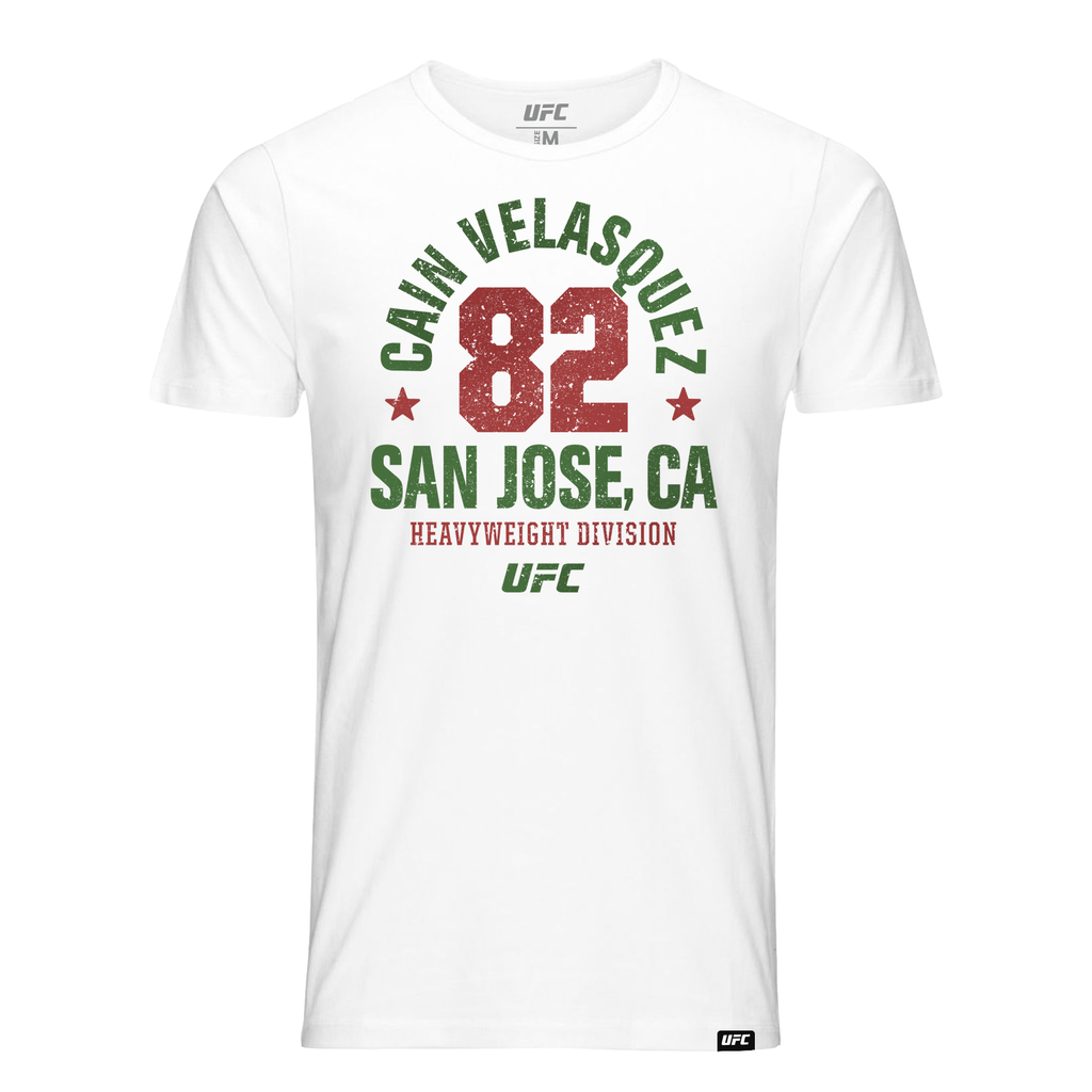 Men's Cain Velasquez  Salinas, CA Established 82 UFC T-Shirt- White