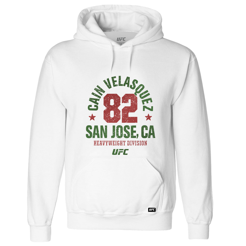 Men's Cain Velasquez Salinas, CA Established 82 UFC Hoodie- White