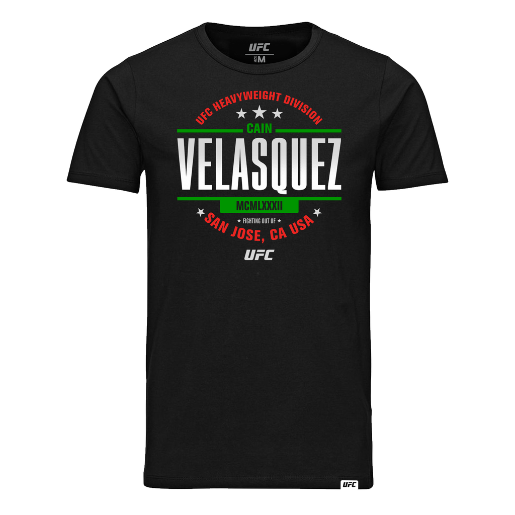 Men's Cain Velasquez Graphic MCMLXXXII UFC T-Shirt- Black