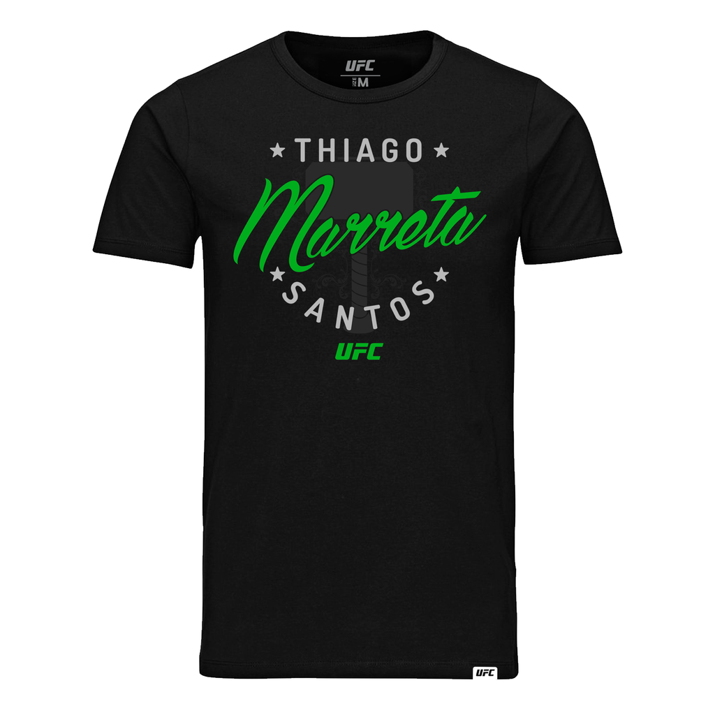 "Men's Thiago ""Marreta"" Santos Graphic UFC T-Shirt- Black"