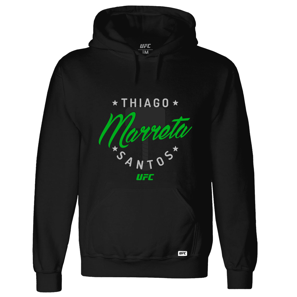 "Men's Thiago ""Marreta"" Santos Graphic UFC Hoodie- Black"