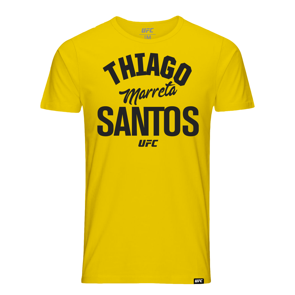 "Men's Thiago ""Marreta"" Santos Old School UFC T-Shirt- Yellow"