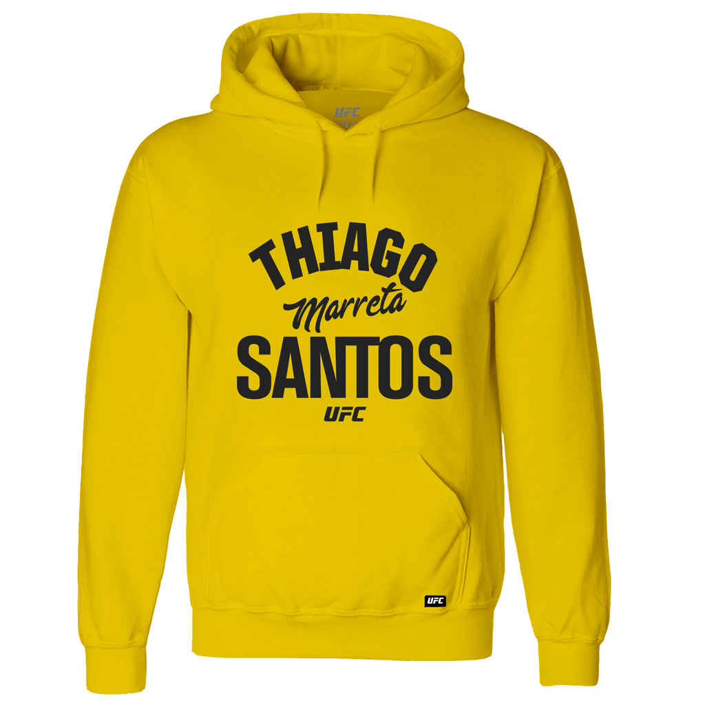 "Men's Thiago ""Marreta"" Santos Old School UFC Hoodie- Yellow"