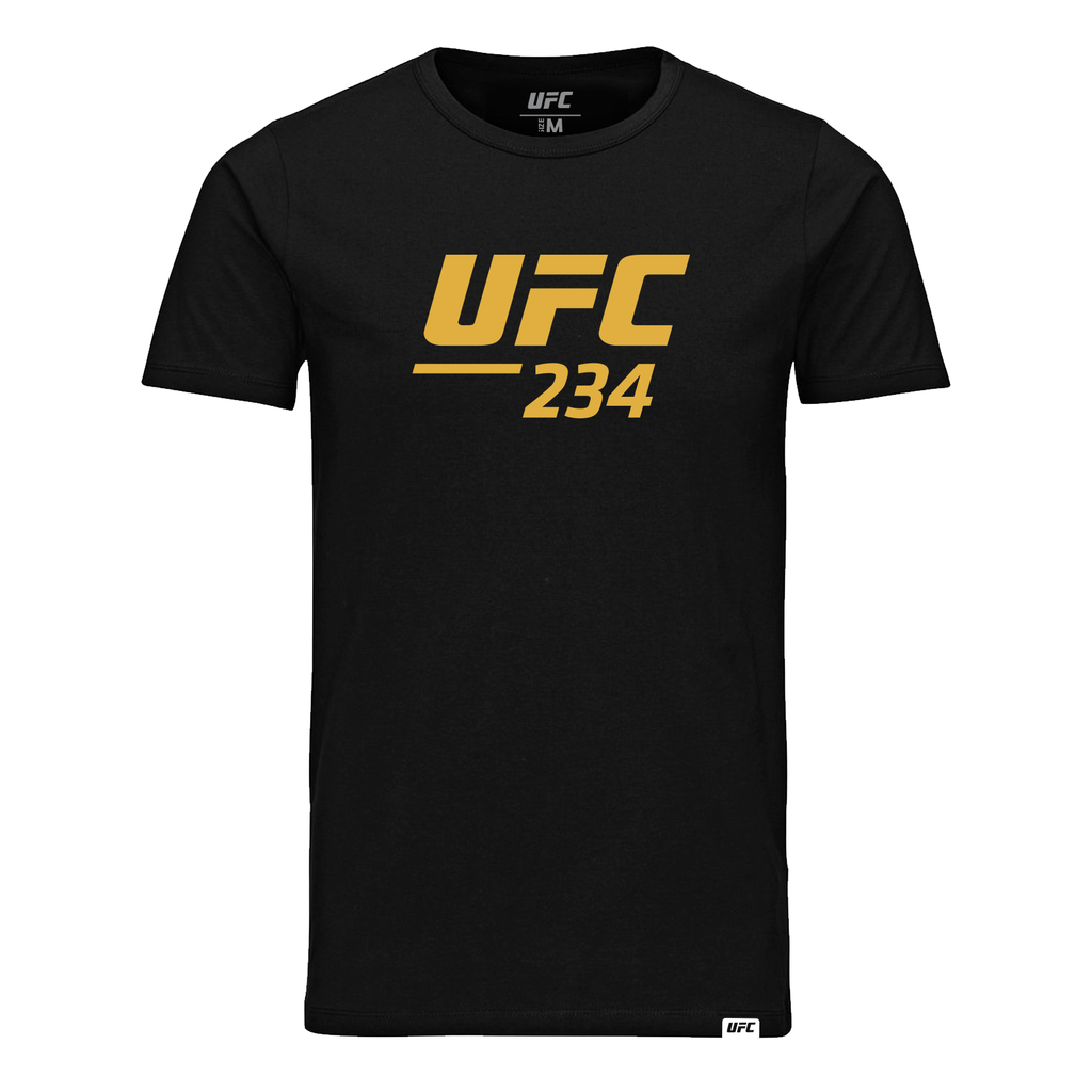 Mens UFC 234 Logo Custom T-Shirt-Black