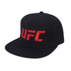 UFC Embroidered Snapback Cap With Red Logo-Black