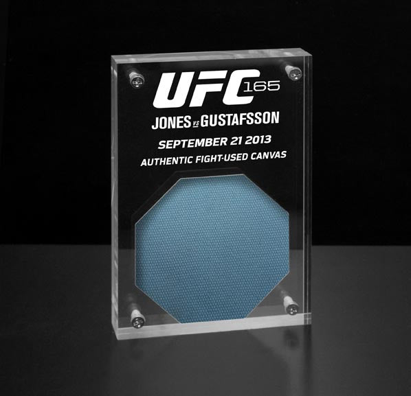 UFC 165 Jones vs Gustafsson Fight Used Canvas Acrylic