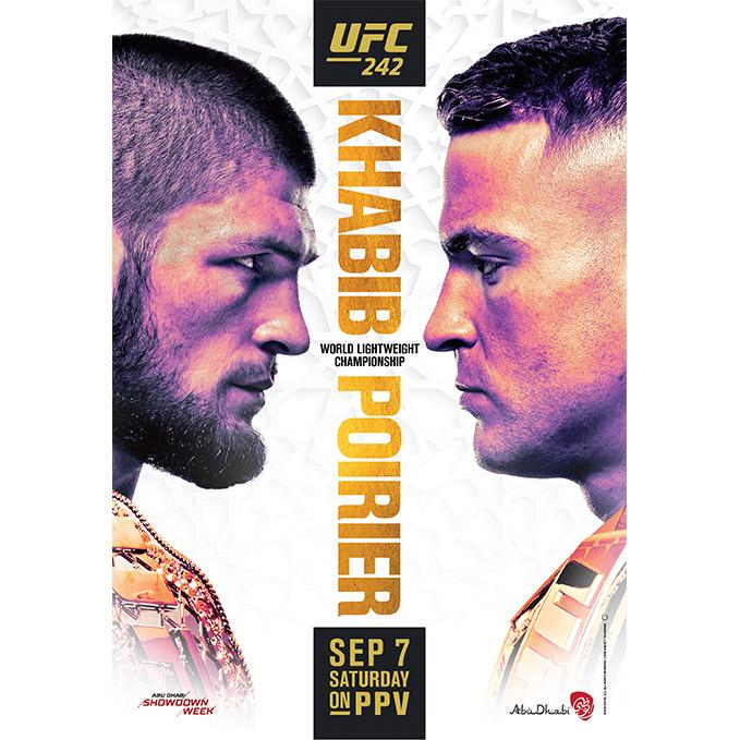 UFC 242 Abu Dhabi Autographed Event Poster