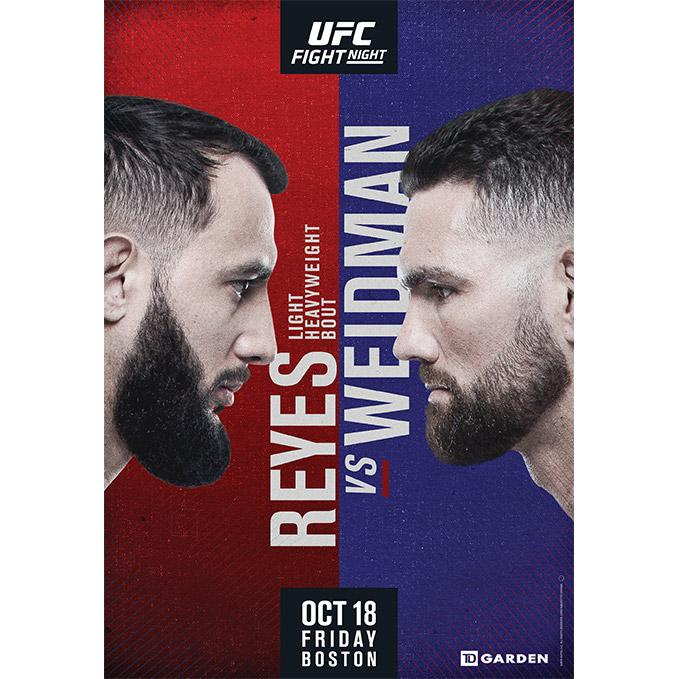 UFC Fight Night Boston Autographed Event Poster