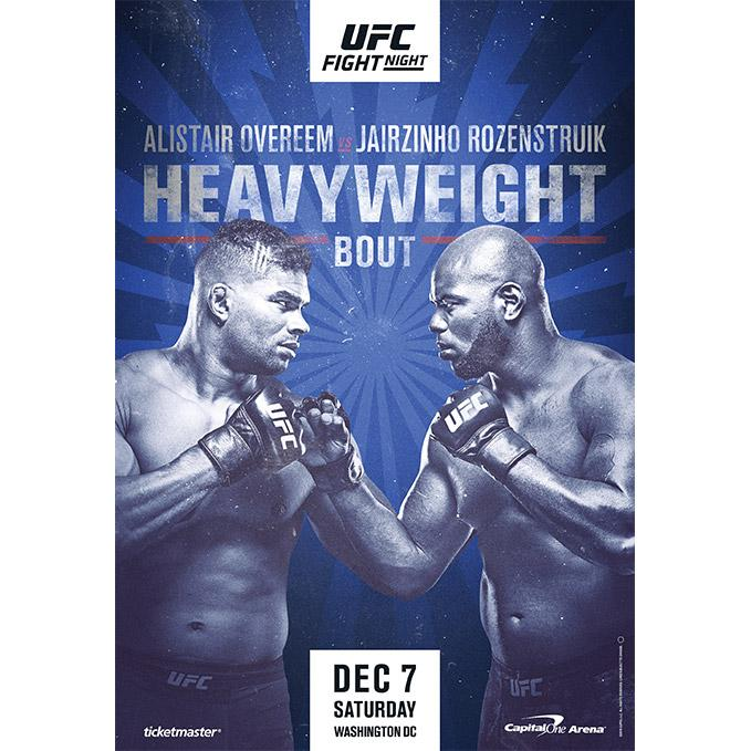 UFC Fight Night Washington DC Autographed Event Poster