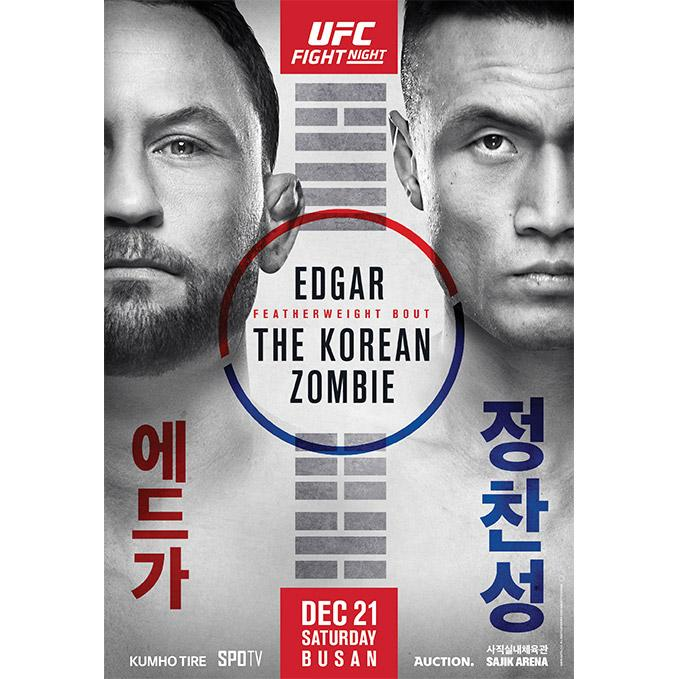 UFC Fight Night Busan Autographed Event Poster