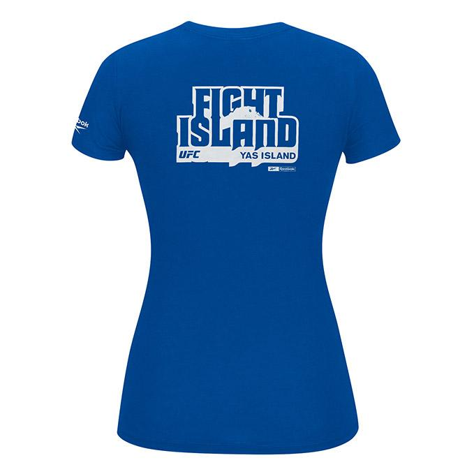 Women's UFC Reebok Fight Island T-Shirt - Royal