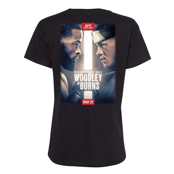 Women's UFC Fight Night - Woodley vs Burns Event T-Shirt - Black