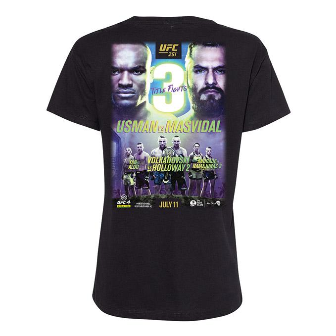 Women's UFC 251 Event T-Shirt - Black