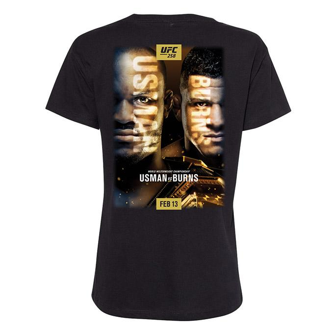 Women's UFC 258 Usman Vs Gilbert Event T-Shirt - Black