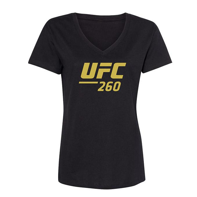 Women's UFC 260 Event T-Shirt - Black