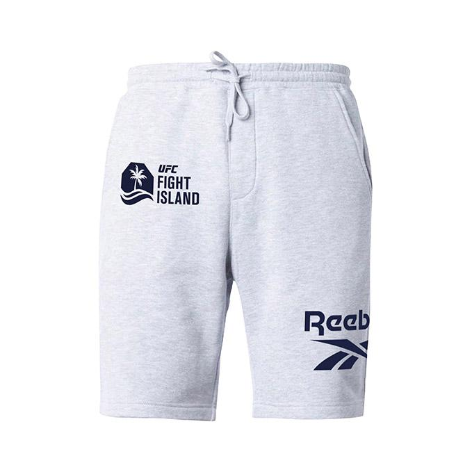 Men's UFC Fight Island Reebok Fleece Shorts - Grey
