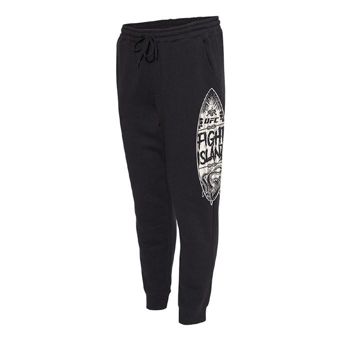 Men's UFC Fight Island Surf Board Joggers - Black