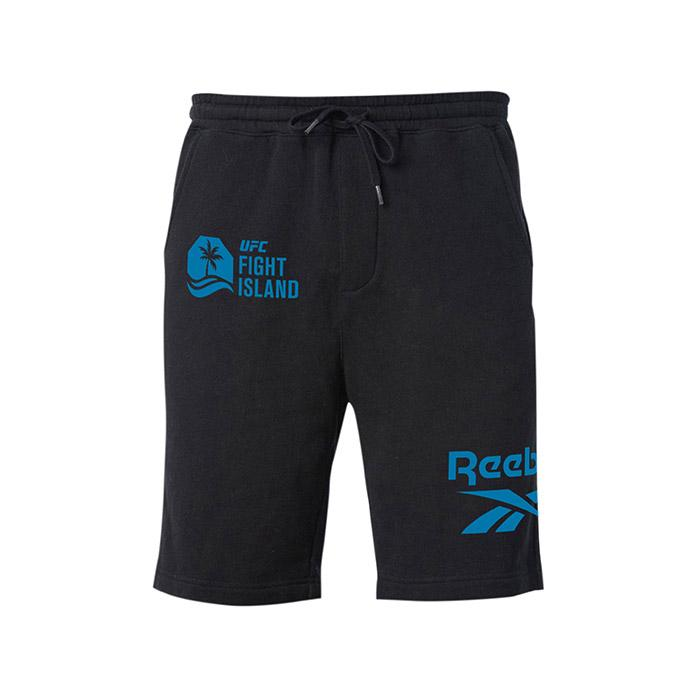 Men's UFC Fight Island Returns Reebok Fleece Short - Black