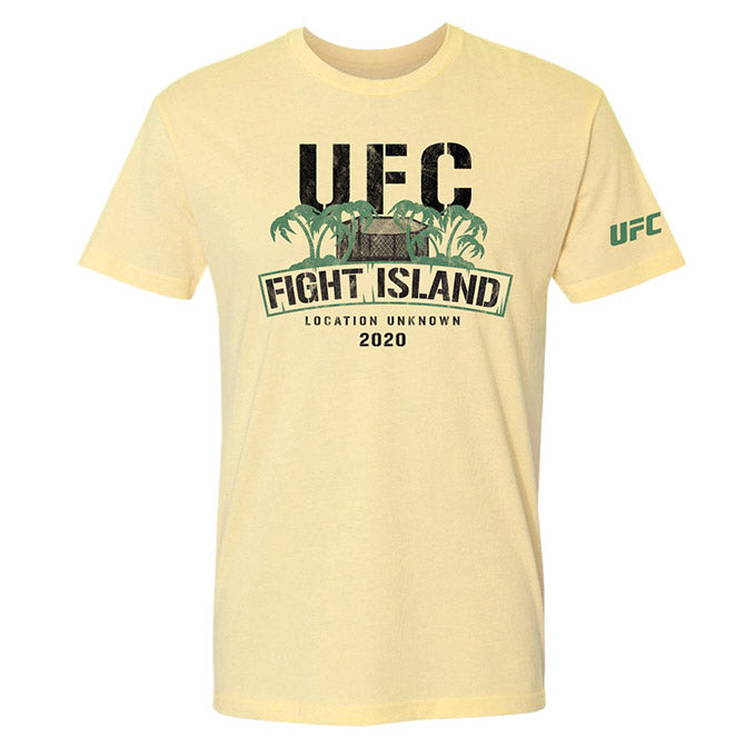 Men's UFC Fight Island Stamped T-Shirt - Light Yellow